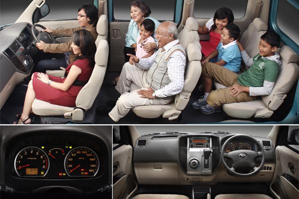 Daihatsu Luxio Interior sewa rental mobil